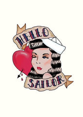 Hello Sailor Tattoo Card