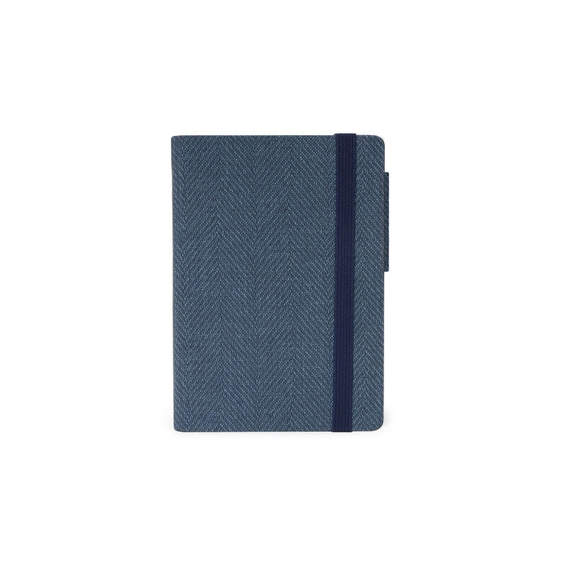 Small Daily Diary 2021 Blue Tweed