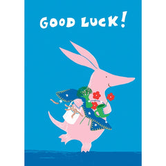 Morag Hood Aalfred and Aalbert Good Luck Card