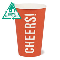 Cheers Pack of 8 Eco Cups Red