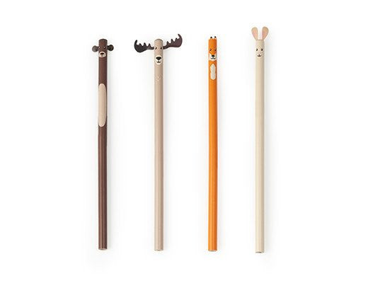 Pack of 4 Woodland Pencils