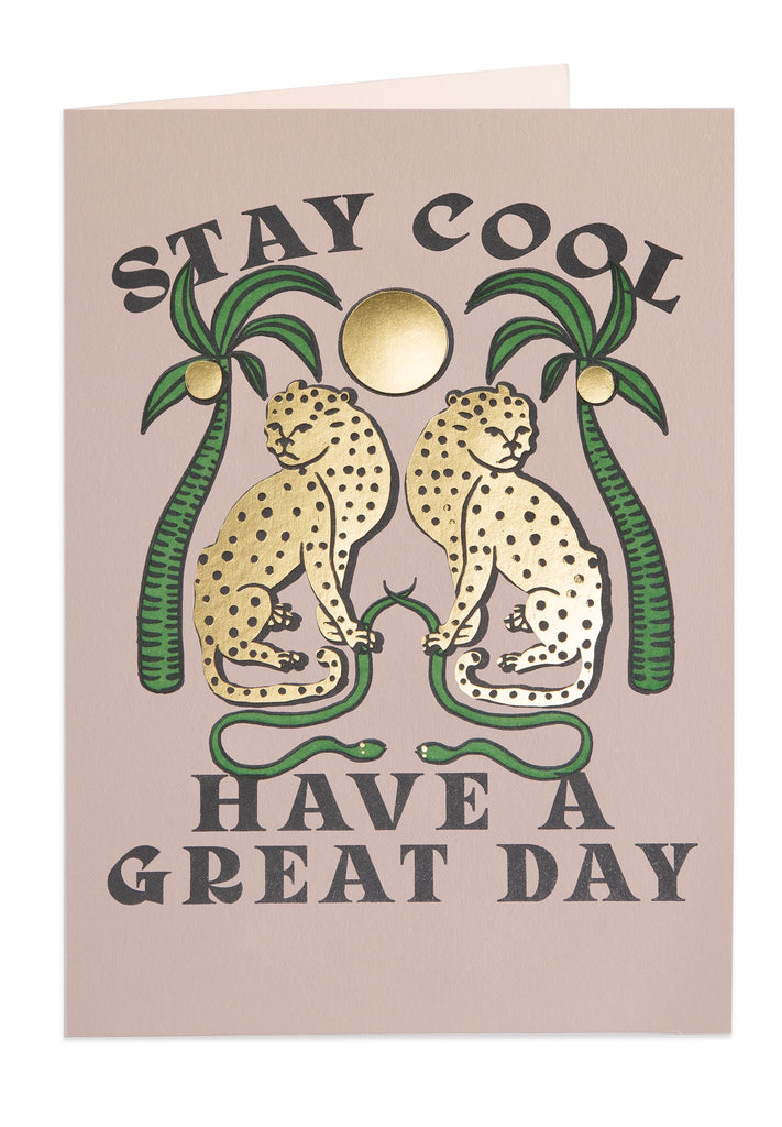 Stay Cool Blank Letterpress Card