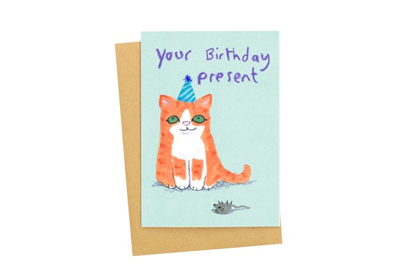 Your Birthday Present Cat Card