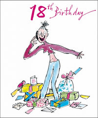 Lucky Girl Quentin Blake 18th Birthday Card