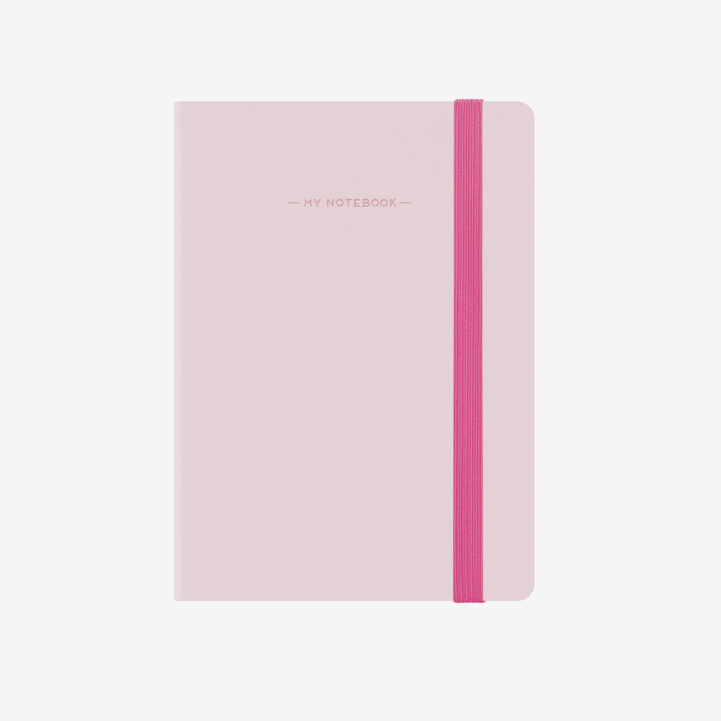 Small Baby Pink Squared Notebook