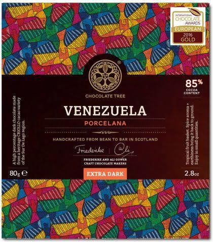 Bean to Bar Extra Dark Chocolate Venezuela Porcelana 85%
