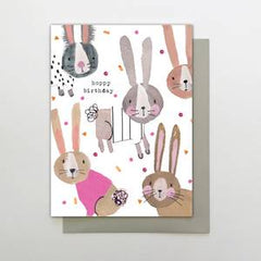 Hoppy Birthday Bunnies Card