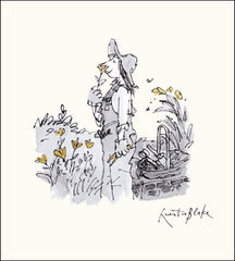 Smelling Flowers Quentin Blake Card