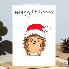Hoggy Christmas Hedgehog in Santa Hat