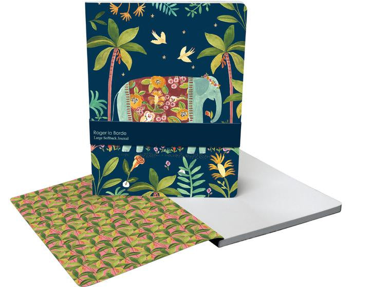 Over The Rainbow Elephant Large Notebook