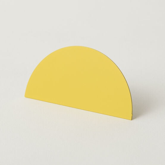 Photo Clip Semi Circle Yellow