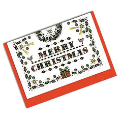 Present Double Sided Christmas Card