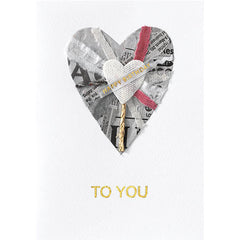 Recycled Heart Happy Birthday To You Card