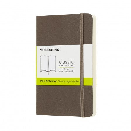 Moleskine Pocket Plain Soft Cover Notebook Earth Brown