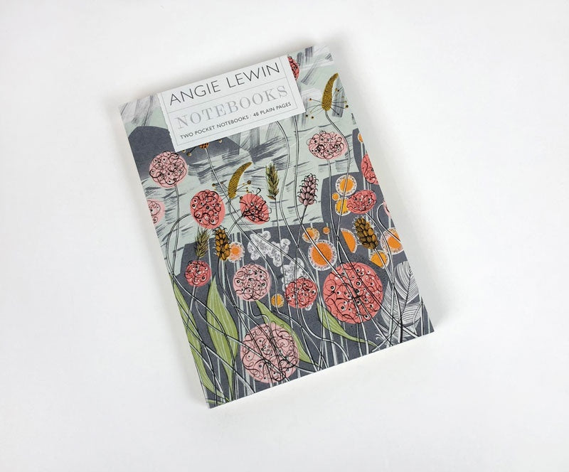 'Pebble Shore' & 'Lichen and Thrift' Notebooks By Angie Lewin
