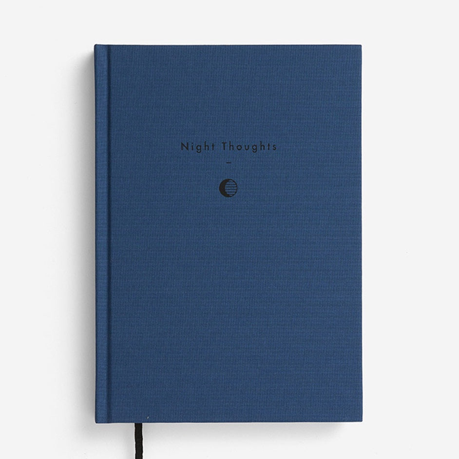 'Night Thoughts' Blue Notebook