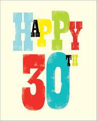30th Birthday Ink Press Card
