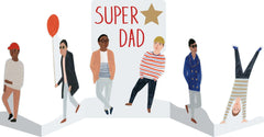 Super Dad Concertina Card