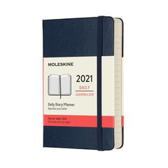 Moleskine 2021 Large Daily Planner Hardcover Sapphire Blue