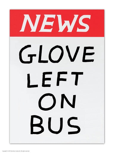 Glove Left On Bus Postcard