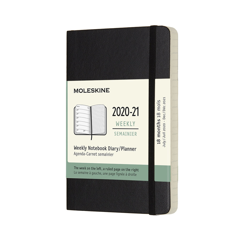 Moleskine 2020/21 Black Academic Diary Pocket Soft Cover