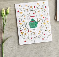 Hello Tea Pot Seed Card