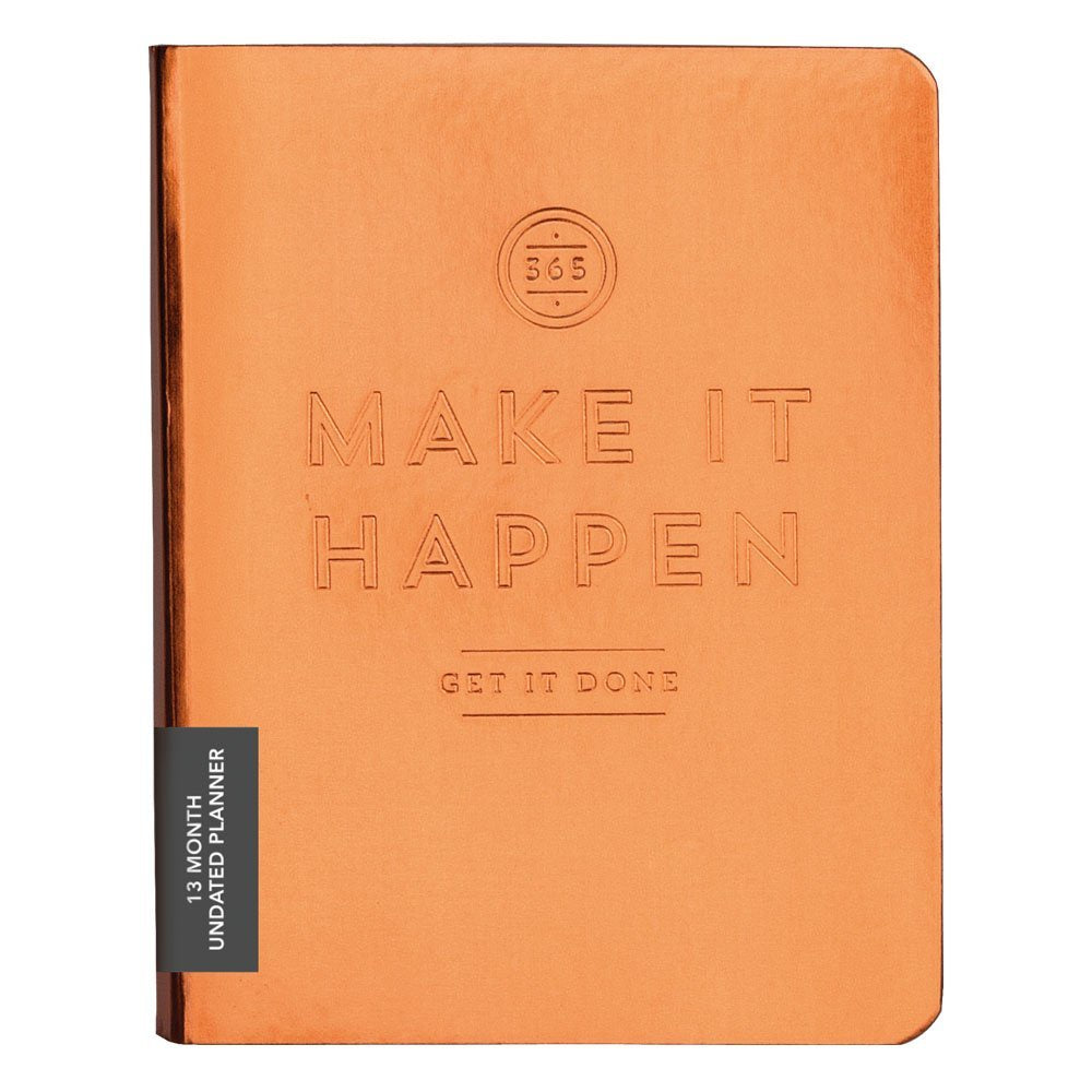 Make It Happen Deluxe Copper Planner