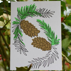 Fir Cones Card