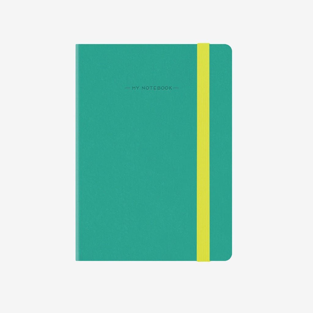 Small Plain Turquoise Notebook