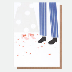 Wedding Feet and Confetti Card
