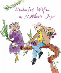 Quentin Blake Wonderful Wife on Mother's Day Card