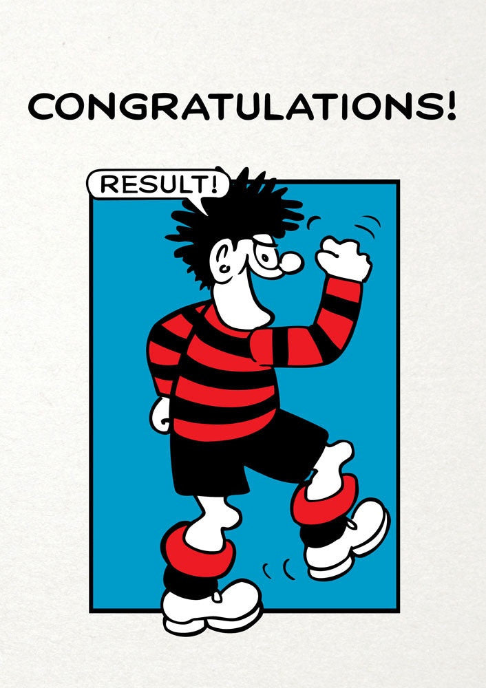 Result Dennis The Menace Congratulations Card Paper Tiger