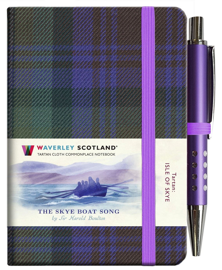 Mini Tartan Notebook With Pen - Skye Boat Song