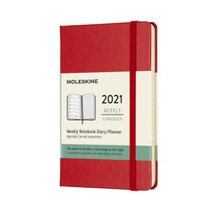 Moleskine 2021 Pocket Weekly Planner Hardcover Red
