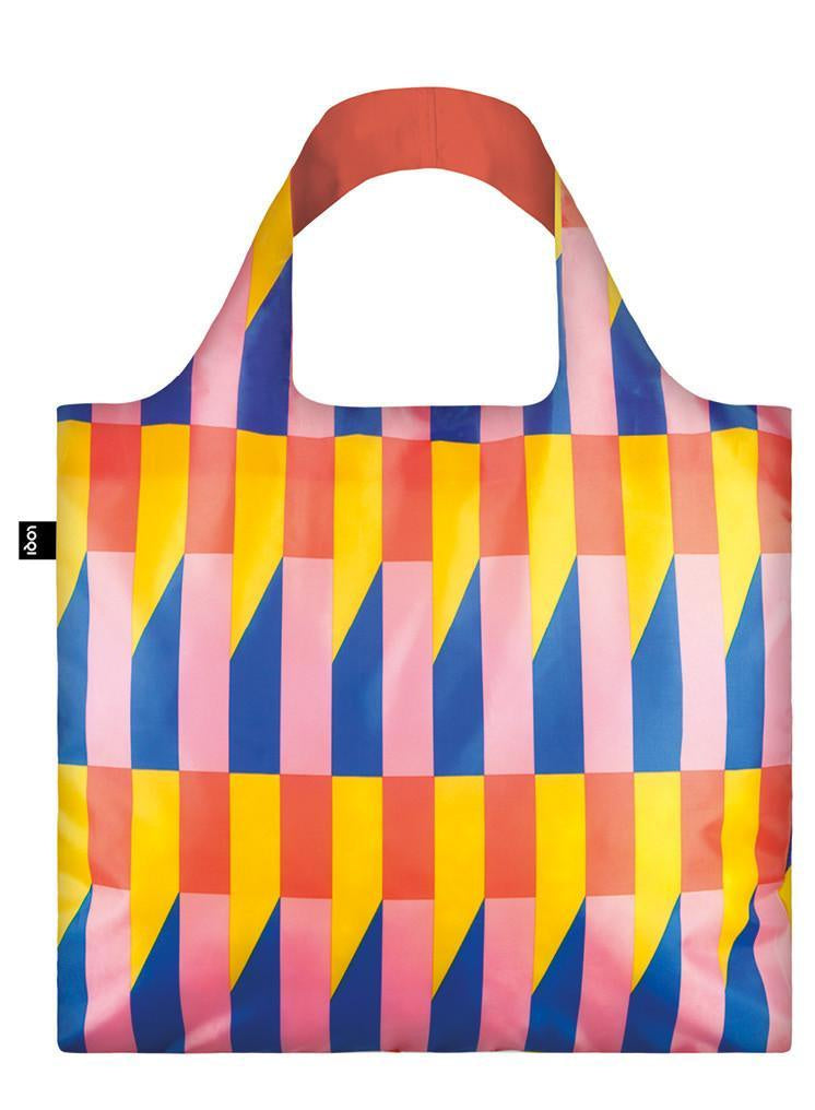 Loqi Geometric Stripes Reusable Bag