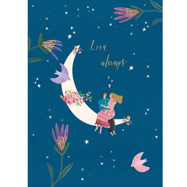 Love Always Moon Valentine's Day Card