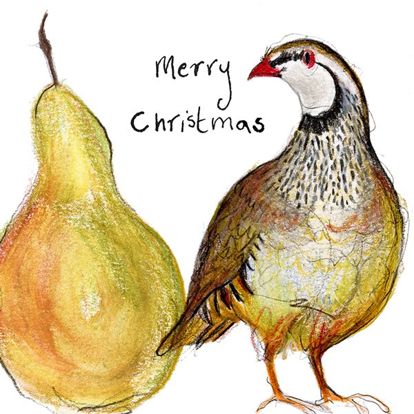 Partridge & Pear Christmas card by Catherine Rayner