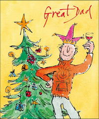 Quentin Blake Great Dad Christmas Card