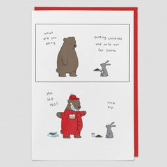 Cookies and Milk Bear Christmas Card