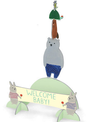 Welcome Committee Pop and Slot New Baby Scene and Card