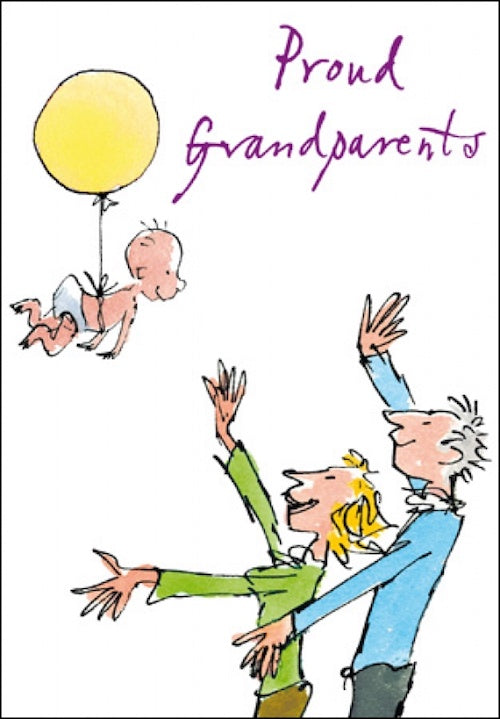 Proud Grandparents Quentin Blake Congratulations Card