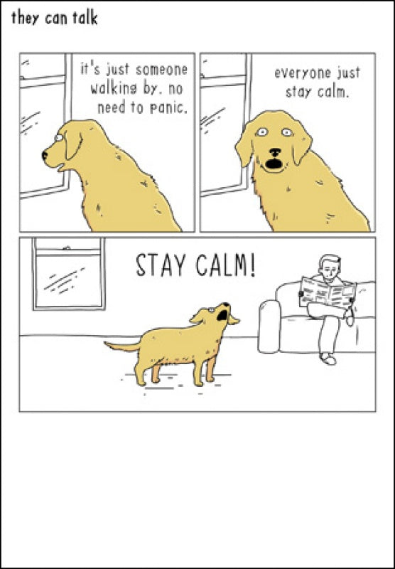 Stay Calm! Card