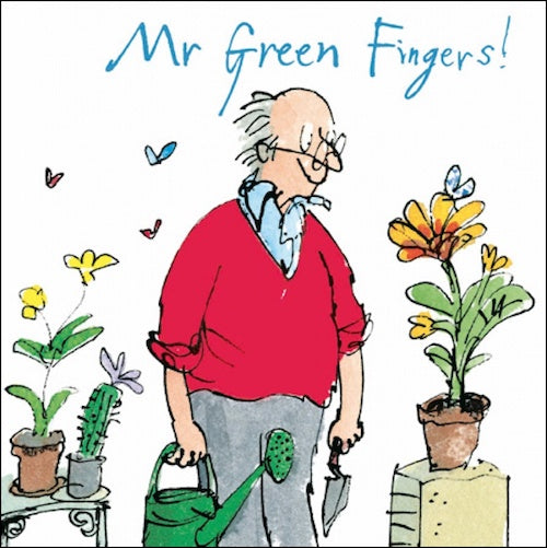 Quentin Blake Mr Green Fingers Birthday Card