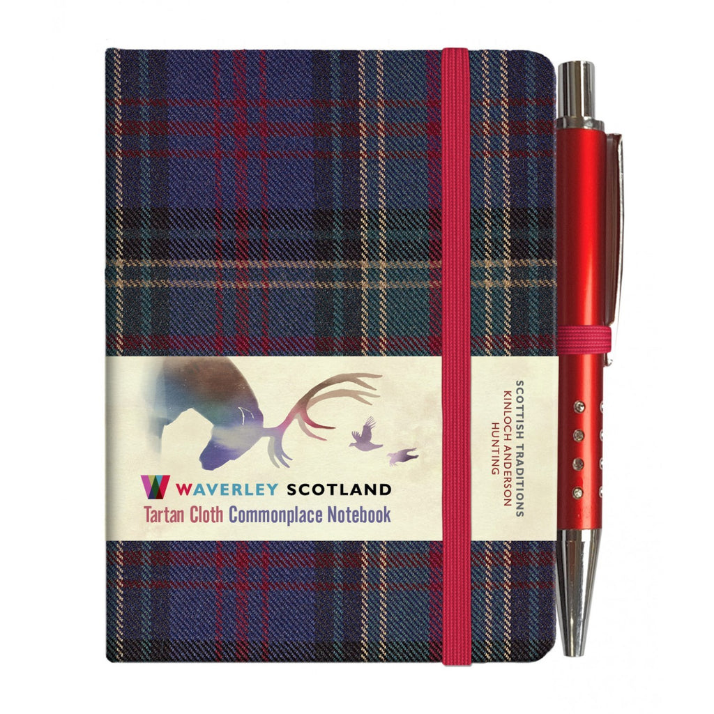 Mini Tartan Notebook with Pen - Hunting