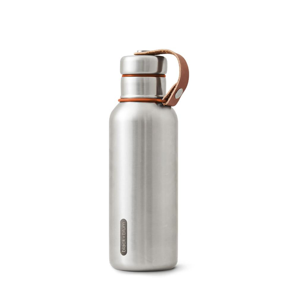Stainless Steel & Orange Water Bottle Small