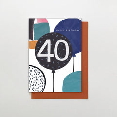 40 Happy Birthday Balloons Card