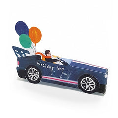 Convertible Car Birthday Boy 3D Card