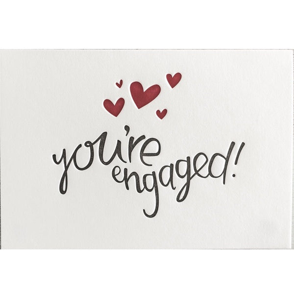 You're Engaged Letterpress Card