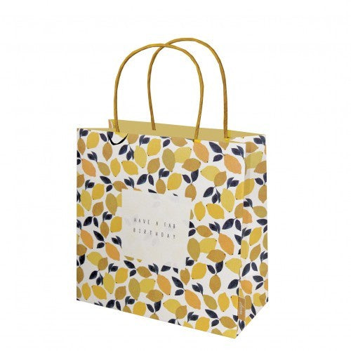 Have a Fab Birthday Lemons Medium Gift Bag