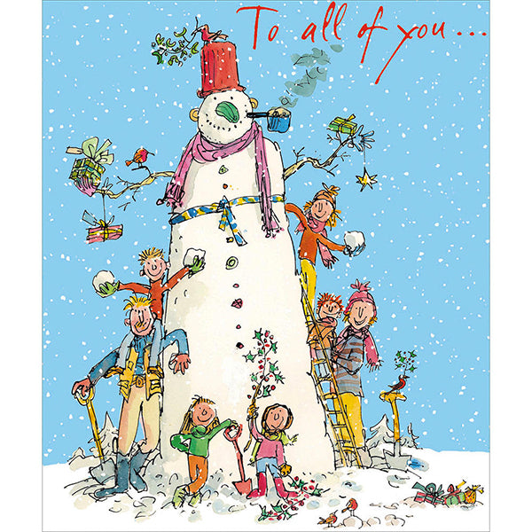 Quentin Blake To All Of You Christmas Card